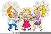 Children Fighting Clipart Image