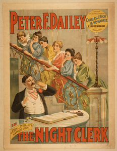 Peter F. Dailey In John J. Mcnally S Happiest Effort, The Night Clerk Image