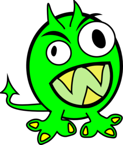 Lime Green Monster Clip Art