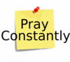 Pray Constantly Clip Art