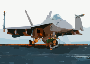 An F/a- 18e Super Hornet Assigned To The Eagles Of Strike Fighter Squadron One One Five (vfa-115). Clip Art