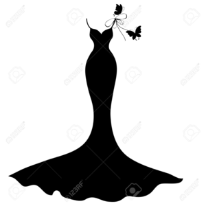 Little Black Dress Silhouette Clipart | Free Images at ...