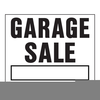 Free Garage Sale Sign Clipart Image