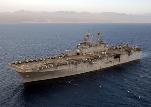 Uss Kearsarge (lhd-3) Steams In The Gulf Of Aqaba Image