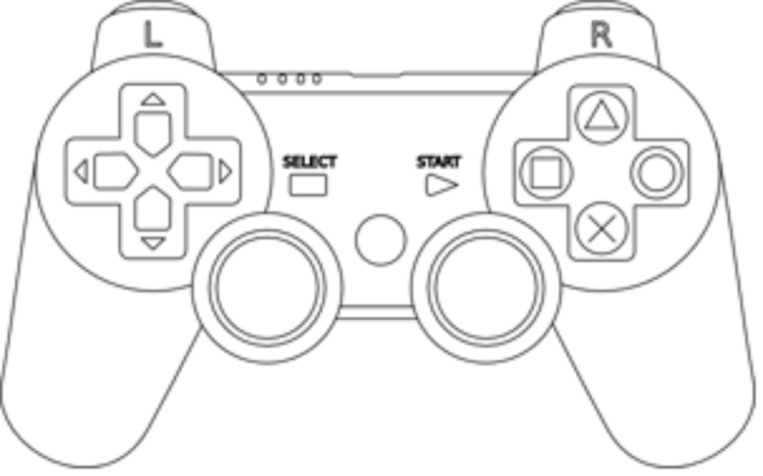 Game Controller Free Images At Clkercom Vector Clip Art Online - Video game outline