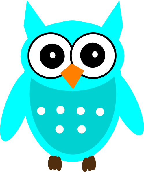 turquoise chic owl clip art at clker com vector clip art online rh clker com Girl Owl Clip Art Owl Family Clip Art