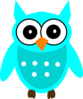Turquoise Chic Owl Clip Art