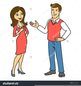 Clipart Two Persons Talking Image