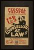 Counsellor At Law  By Elmer Rice Image