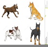 Sets Of Dog Clipart Image