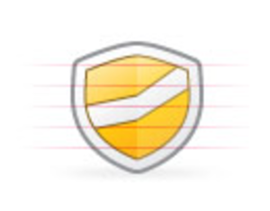 Origami Security Yellow | Free Images at Clker com - vector