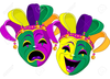 Tragedy Comedy Clipart Image