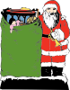 Santa And His Bag Clip Art