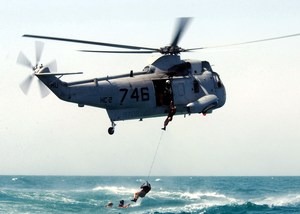 Sh-3 Helo Recovers Eod Team Image