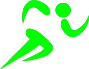 Bright Green Runner  Clip Art