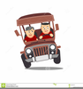 Sheep In A Jeep Clipart Image