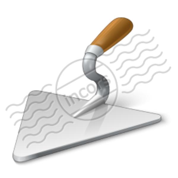 Trowel Clip Art : Brick trowel free images at clker vector clip