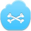 Free Blue Cloud Bones Image