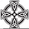 Celtic Cross Round Clipart Image