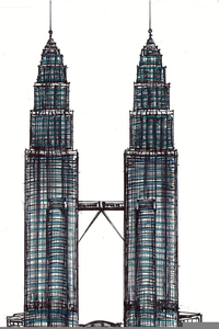 clipart twin towers free images at clker com vector clip art rh clker com petronas twin towers clipart Twin Towers Silhouette