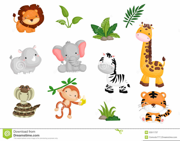 Baby Shower Jungle Animal Clipart Free Images At Clker Com
