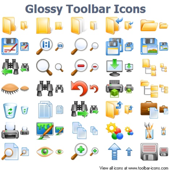 Glossy Toolbar Icons | Free Images at Clker.com - vector clip art ...