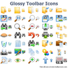 Glossy Toolbar Icons Image