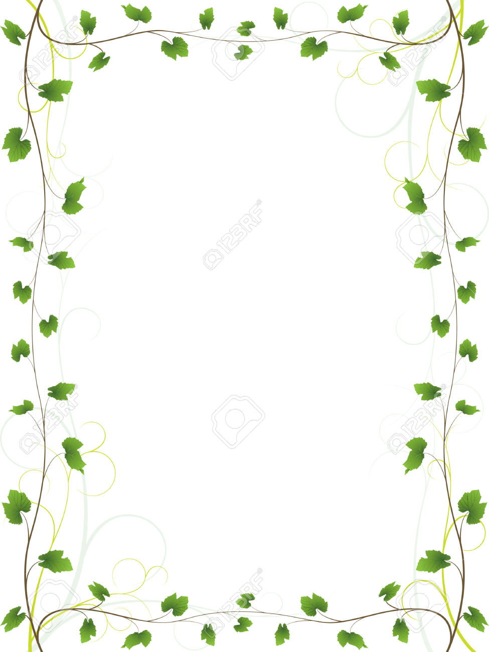 vine frame stock vector boarder vine free images at clker com