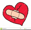 Broken Heart With Bandage Clipart Image