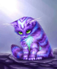 Cute Purple Cats Image