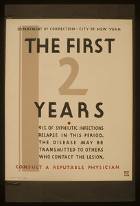The First 2 Years Consult A Reputable Physician 91% Of Syphilitic Infections Relapse In This Period : The Disease May Be Transmitted To Others Who Contact The Lesion. Image