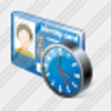 Icon Index Card Clock Image