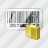 Icon Bar Code Locked Image