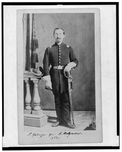 [captain Isidore Esslinger, Union Officer In The 32nd Indiana  Regiment, Full-length Portrait, Standing, Facing Front] Image
