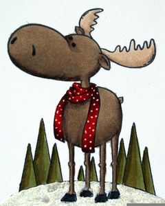 Free Cute Moose Clipart Image