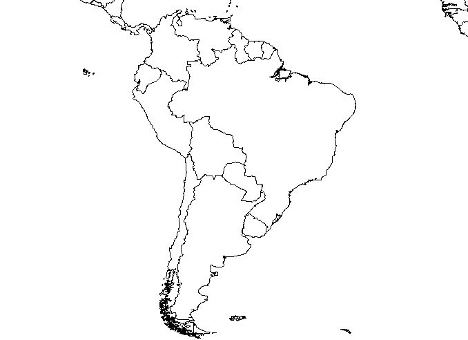 Blank South America Map Worksheet Blank south america map