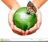 Hands Holding The World Clipart Image