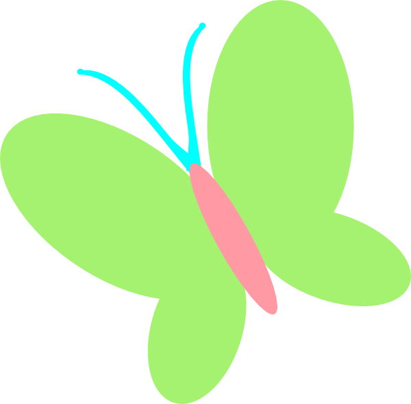 Green Pink Butterfly Clip Art at Clker.com - vector clip ...