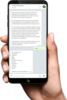 Smartphone Telegram Agrodeire Texto Hd Min Female Hand Cutout Blank Hi Res Image