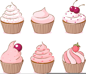 Free Cupcake Clipart Black And White Image