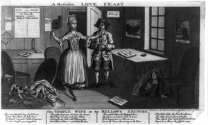 A Methodist, Love Feast. The Gosple Wife, Or The Bellows Lecture Image