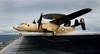 An E-2c Hawkeye Assigned To The Black Eagles Of Carrier Airborne Early Warning Squadron One One Three (vaw-113) Launches From One Of Four Steam Powered Catapults Aboard Uss John C. Stennis (cvn 74) Image