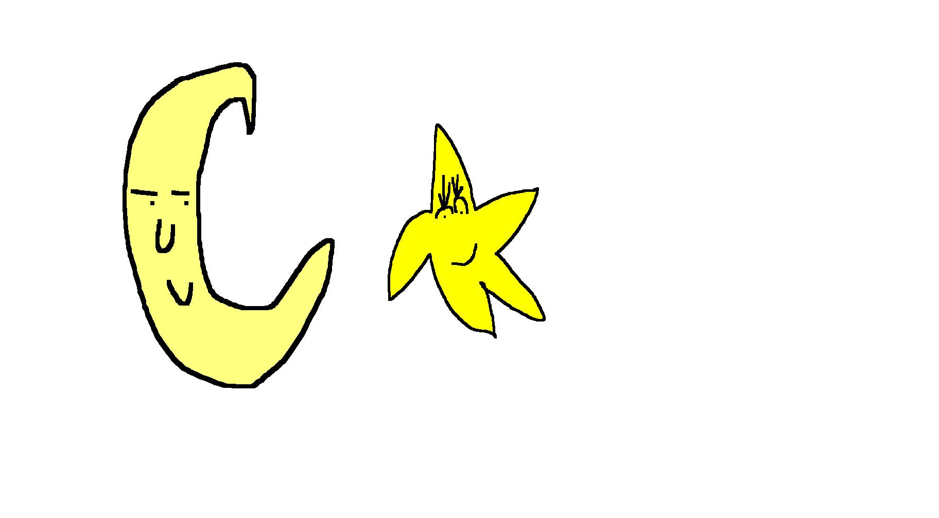 free clip art moon and stars - photo #31