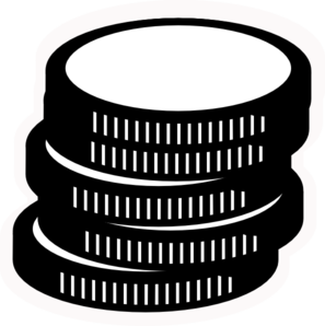 b w coins clip art at clker com vector clip art online royalty