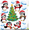 Free Clipart Christmas Penguins Image
