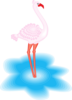 Feathered Flamingo Clip Art