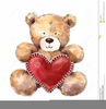 Valentines Day Teddy Bears Clipart Image