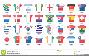 Soccer World Cup Flags Clipart Image