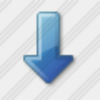 Icon Arrow Down Blue Image