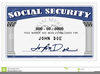 Social Security Card Clipart Image